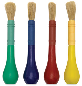 Easy Grip Brushes, Pkg of 4