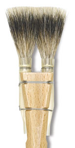 Double Badger Square-Edged Brush