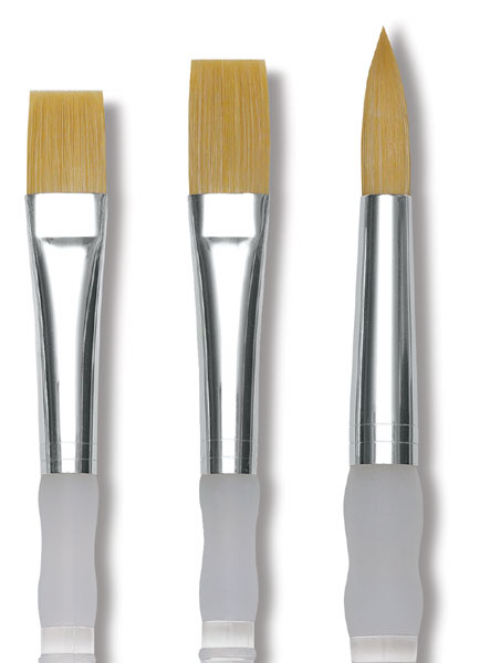 Soft Grip Golden Taklon Brushes