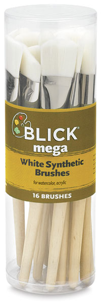 Mega White Synthetic, Set of 16