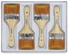 Golden Taklon Large Area Brushes, Set of 12