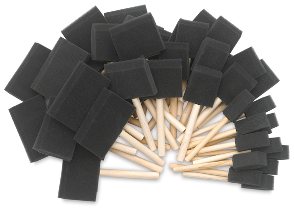 Foam Brush, Set of 48
