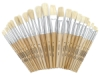 Richeson White Bristle Brush Assortment of 24
