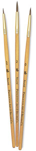 Sable Brushes, Set of 3 (#9105)