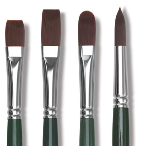 Ruby Satin Synthetic Brushes