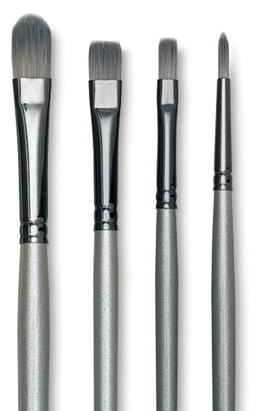 Titanium Pack R, Set of 4 Brushes