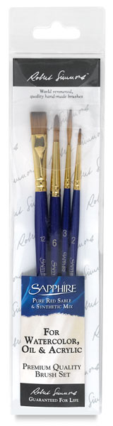 Sapphire Pack Y, Set of 4 Brushes