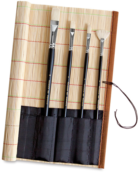 Bamboo Brush Roll-up (brushes not included)