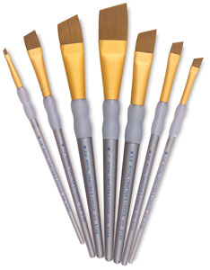 Taklon Angular Brushes, Set of 7