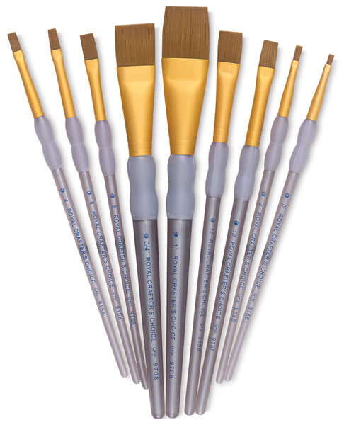 Taklon Shader/Wash Brushes, Set of 9