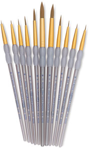 Taklon Round Brushes, Set of 11