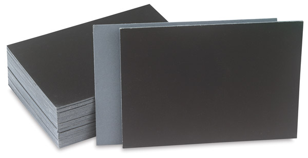 Cut Edge Canvas Panels, Black