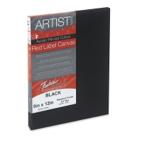 Fredrix Red Label Black Canvas