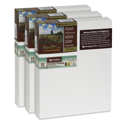 Monet Pro Sausalito Cotton Canvas, Value Pkg of 3
