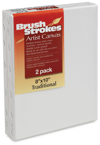 Brushstrokes Pre-Stretched Canvas, pkg of 2