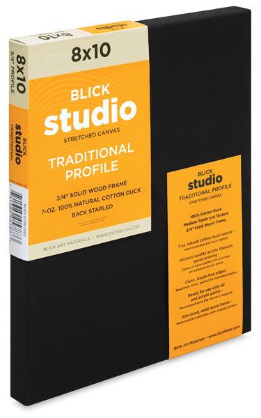 Studio Black Cotton Canvas