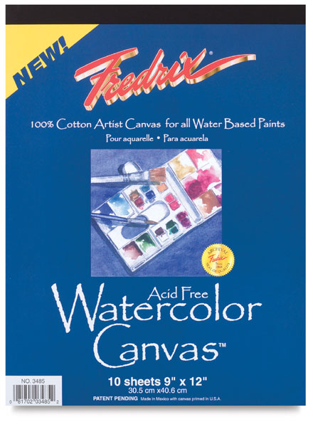 Watercolor Canvas, 10 Sheet Pad