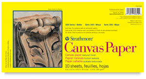 "Canvas Paper Pad, 10 Sheets 6"" × 12"""