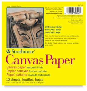 "Canvas Paper Pad, 10 Sheets 6"" × 6"""