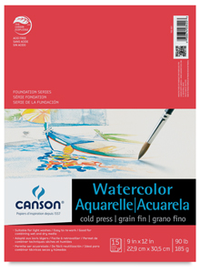 Watercolor Pad, 15 Sheets