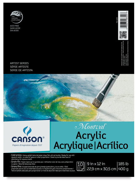 Canson montval acrylic paper blick art materials for Acrylic painting on paper tips