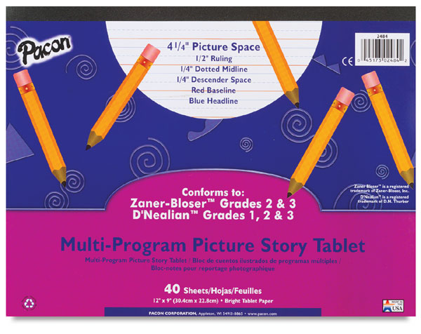 "40 Sheet Tablet, Ruled 1/2"" × 1/4"" × 1/4"""