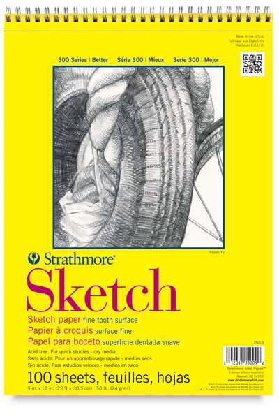 Sketch Pad, 100 Sheets Wire Bound