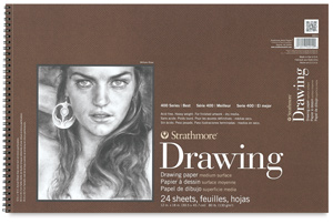"Drawing Paper Pad, 24 Sheets, 12"" × 18"""