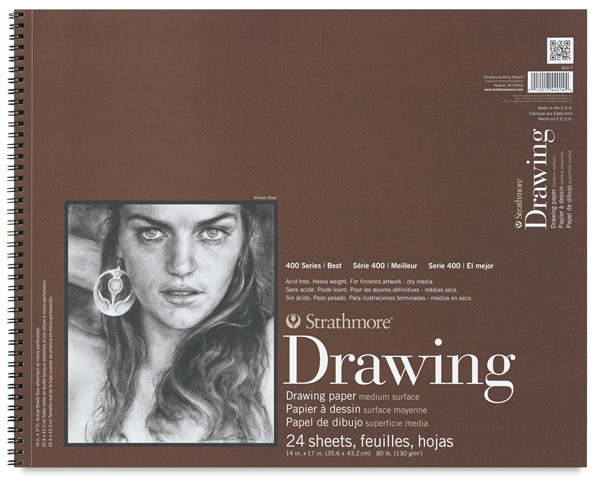 "Drawing Paper Pad, 24 Sheets, 14"" × 17"""