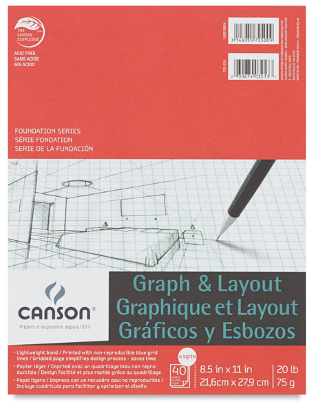 "Graph Pad, 4"" × 4"" Grid, 40 Sheets"