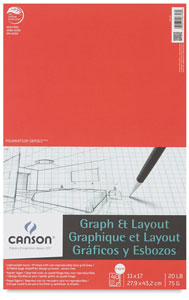"Graph Pad, 8"" × 8"" Grid, 40 Sheets"