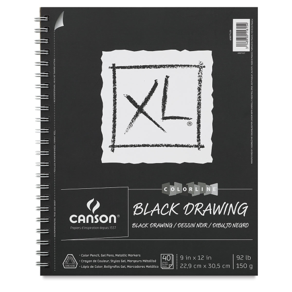 XL Black Drawing Pad, 40 Sheets