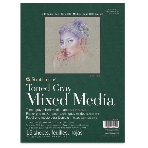 400 Series Toned Mixed Media Pad, Gray