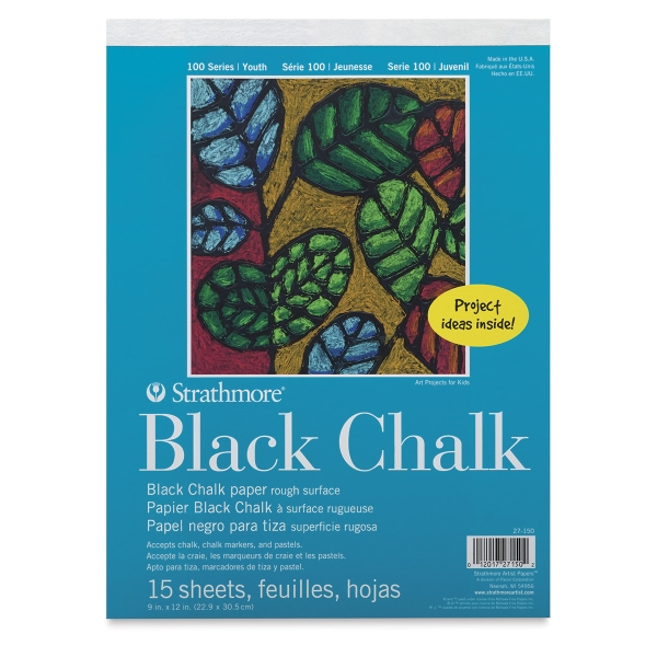 100 Series Black Chalk Paper Pad, 15 Sheets