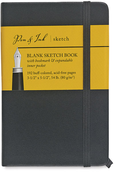 "Blank Sketchbook, 96 Sheets<br>3½"" × 5½"" Portrait"