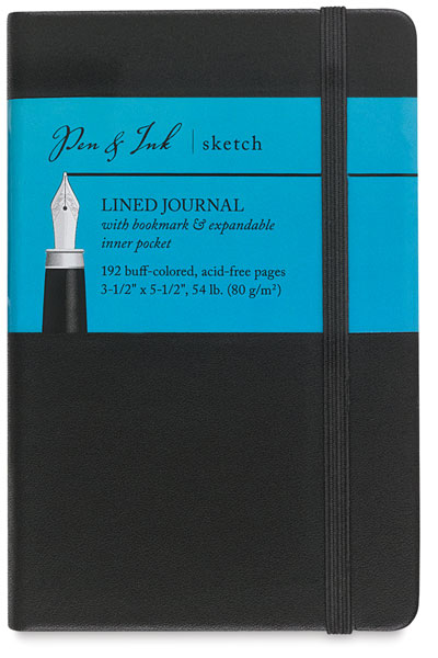 "Lined Journal, 96 Sheets<br>3½"" × 5½"" Portrait"