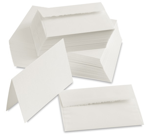 Watercolor Cards with Env, Pkg of 30, White