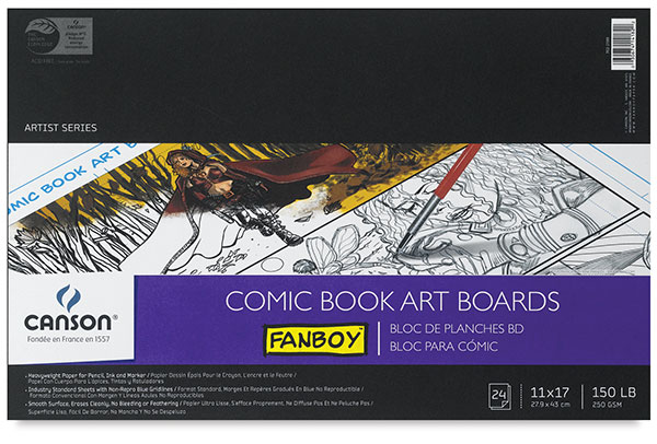 Comic Book Art Boards, 24 sheets
