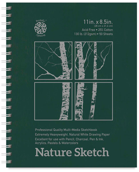 "Nature Sketch Book, 8.5"" x 11"", 50 Sheets"