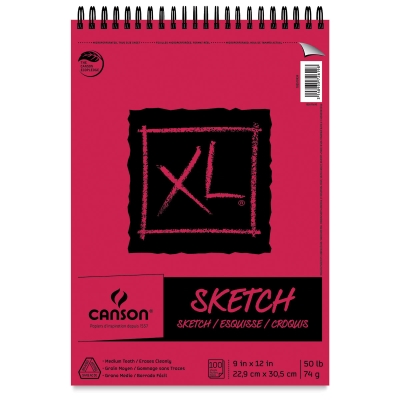 Wirebound Sketch Pad, 100 Sheets