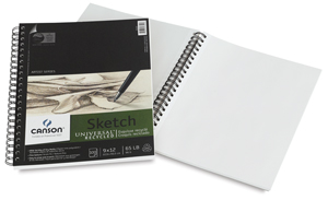 "Universal Sketch Pad, 100 Sheets, 9"" × 12"""