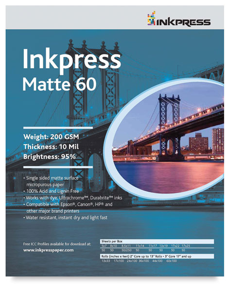 Inkpress Matte 60, Package of 50