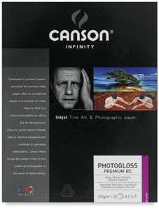 Photogloss Premium Resin Coated Art Paper, Pkg of 25