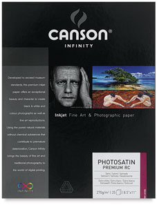 PhotoSatin Premium Resin Coated Art Paper, Pkg of 25
