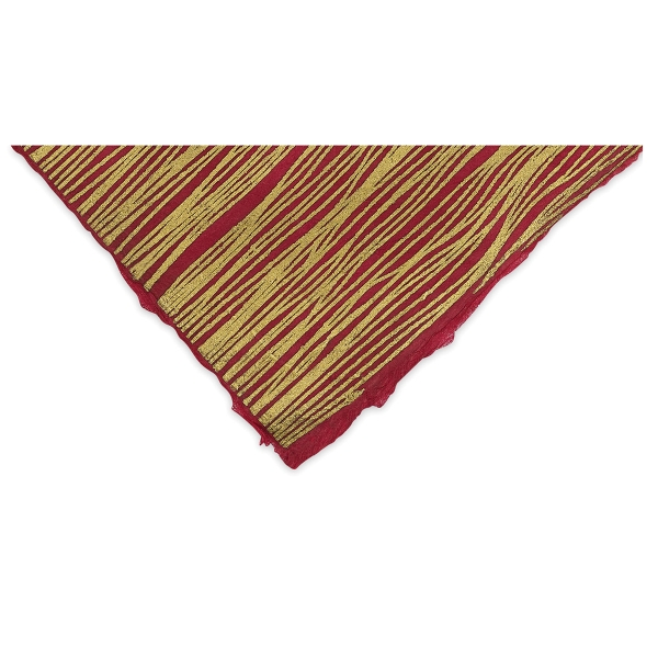 Wavy Lines (Gold and Raspberry)