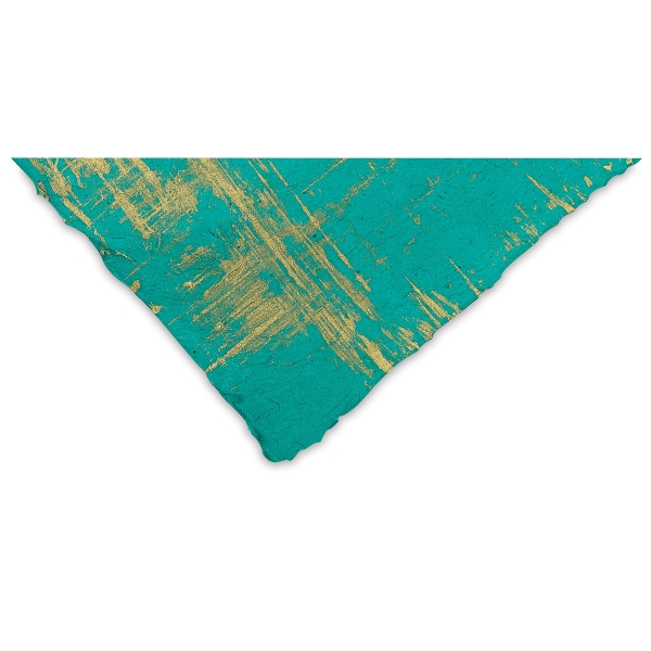 Brush Strokes (Gold and Sea Green)