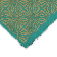 Starburst (Gold and Sea Green)