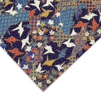 Cranes, Red/White/Blue/Gold