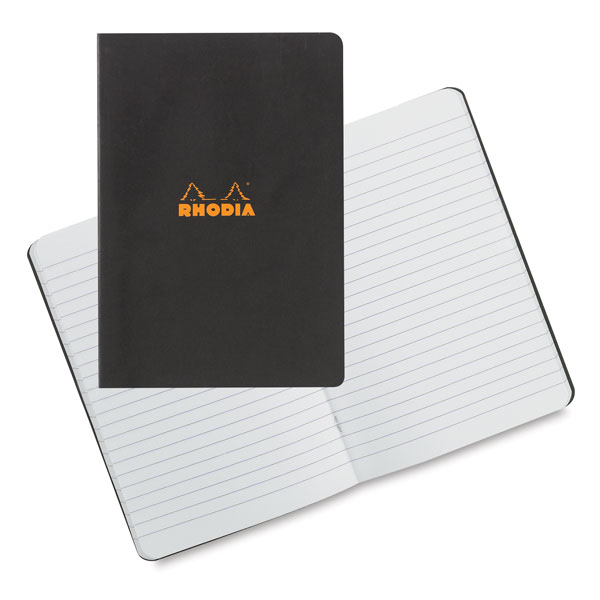 Lined Notebook, Black