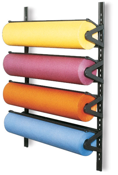 Wall Art Supply Holder : Wall mounted paper roll racks blick art materials